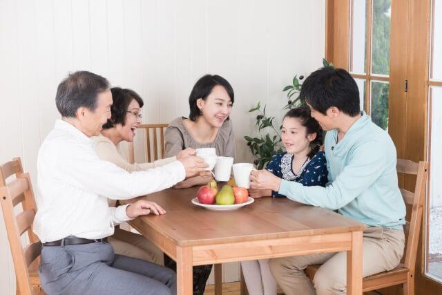 良好なコミュニケーションが取れている家族